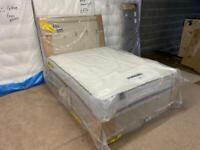 Full Silentnight storage bed base +headboard and pocket mattress