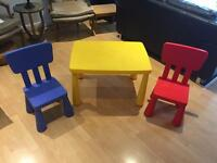 IKEA Kid's table and chairs