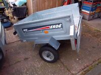 Small car tipping trailer;