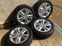 "Set of 4 Genuine Mercedes 16"" Alloy Wheels"