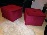 Reduced price! Sexy hot red cube seats for sale!