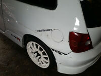 Rear bumper and extension Honda Civic EP3 Type-R
