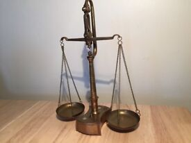 Set of 19th century brass scales