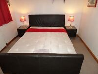 King Size Bed with matching bed side tables
