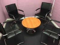 Stylish Meeting Room table and 4 chairs - immaculate