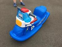 Little tikes police rocker - with working sound and lights