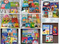 Hige Bundle of Childrens / Toddlers Books - Sounds, Puppet, Clocks, Drawing Board, Peppa Pig etc.