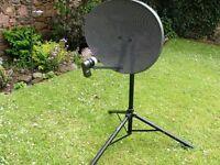 portable satellite dish & stand.