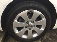 "........4 Genuine Vauxhall 17"" alloys & Tyres......"