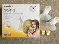 Medela Swing Single Electric Breast Pump with Calma Teat