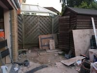 existing garden shed to be dismantled and collected free