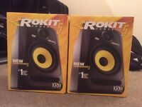*Brand New studio set up* KRK Rokit Monitors, Scarlett 2i2 Soundcard & Ableton