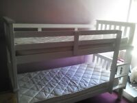Bunk bed white solid pine