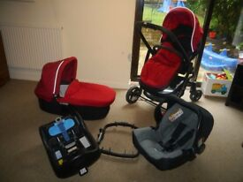 Graco Evo Travel System with Isofix Base, Car Seat and Accessories RRP £550