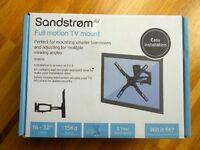 """SANDSTROM SFMS14 FULL MOTION TV WALL MOUNT 16"""" - 32"""""""