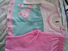 BRAND NEW LOVELY BABY GIRLS 2 PIECE OUTFIT AGE 0-3 MONTHS