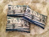 Three Beautiful Designer Kilburn & Scott Velvet & Printed Cushions