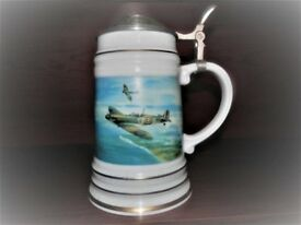 "Tankard with Pewter lid ""REACH FOR THE SKY"" by Michael Turner GAvA"
