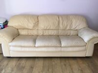 Real leather sofas 3 and 2 delivery available