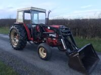 International 784 loader tractor / telehandler c/w quicke 3030 power loader genuine tractor no vat