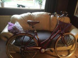 "Pendleton somerby bike red/maroon 19"""