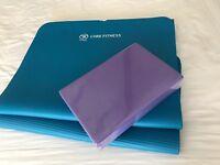 Yoga Pilates mat new block and Jillian Michaels yoga dvd