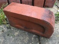 11x Beautiful Reclaimed Used Victorian/Edwardian Single Bullnose Decorative Round Bricks (Step/Sill)