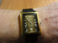 RARE VINTAGE AUTHENTIC MENS GENTS TISSOT 7 SEVEN GOLD AUTOMATIC DATE WRISTWATCH