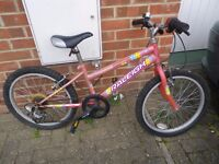 "Girl's 16"" Raleigh Bike Bicycle - Pink Good Condition £15"