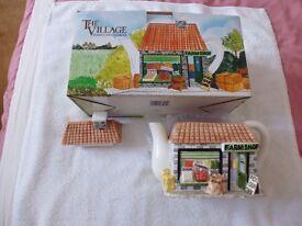 Farm Shop Teapot by Village Collectables.