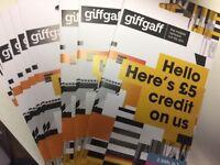FREE £5 FREE CREDIT GIFFGAFF SIM CARDS
