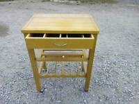 Solid pine wine rack with top and draw