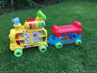 VTECH PUSH AND RIDE ALONG ALPHABET TRAIN - ELECTRONIC LEARNING TOY - FULLY WORKING
