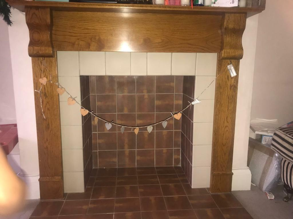 Fireplace surround wooden