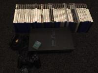 Ps2 PlayStation 2 With 1 Controller And 37 Games