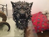 Genuine Edge Sculpture Wolf Bust