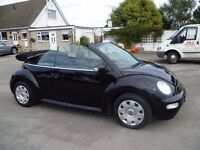 VW BEETLE 1.4 CONVERTIBLE 53 REG IN BLACK WITH BLACK ELECTRIC HOOD,MOT JUNE 2017 PETER 07867955762
