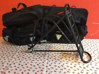 Bike carrier with panniers