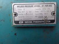 Air compressor welded pressure vessel 87/404EEC