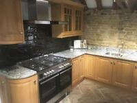 Kitchen Ex display AEG range - kitchen units - granite worktop