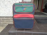ANTLER, COLOURS, SMALL SUITCASE, NAVY RED and GREEN, RARELY USED