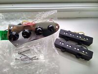 Fender USA Jazz Bass pickups Noiseless Active (4 Strings, fully loaded with preamp circuit)