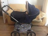 Great condition navy blue silver cross pram and stroller