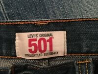 Levi's 501 (Code 0162 - Marlon) - Waist 34 x Leg 36. Straight leg & Button fly.