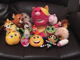 Bundle Joblot Of Soft Kids Toys McDonald's Emoji Peppa Pig Minion Christmas Cheap Stocking Present