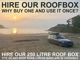 Roofbox Rental - Hire a roof box for your holiday