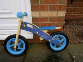 Boys wooden balance bike