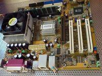 Leadtek WinFast K7S741GXMG-6L motherboard bundle with AMD Sempron 2400+ CPU, RAM and Cooler