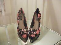 Ladies High Heels - next - Flowered Size 3