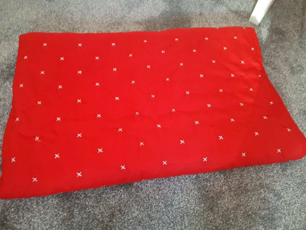 Red throw for double bed